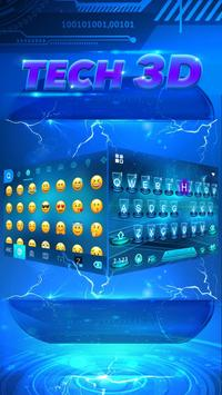 Hologram Blue Keyboard Theme apk screenshot