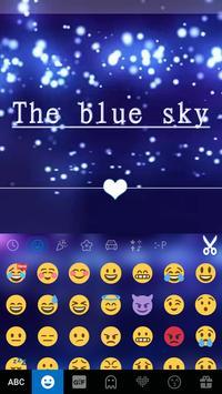 Blue Sky Emoji Kika Keyboard screenshot 2