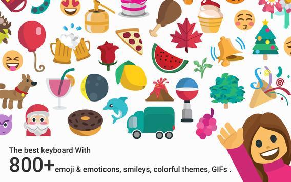 Blue Sky Emoji Kika Keyboard screenshot 7