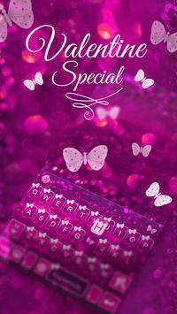Butterfly Emoji Keyboard Theme poster