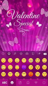 Butterfly Emoji Keyboard Theme apk screenshot