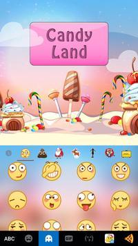 Candy Land Kika Keyboard apk screenshot