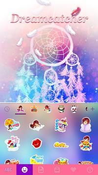 Dreamcatcher Lovely Keyboard Theme apk screenshot