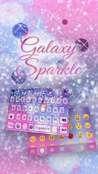 Galaxy Sparkle Kika Keyboard poster