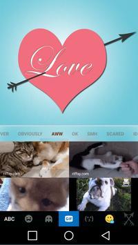 Pink Love Keyboard Theme apk screenshot