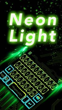 Neon Light Emoji Kika Keyboard poster