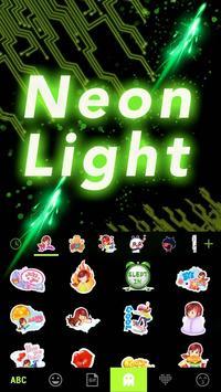 Neon Light Emoji Kika Keyboard apk screenshot