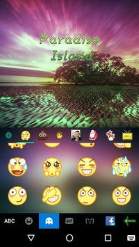 Paradise Island Kika Keyboard screenshot 1