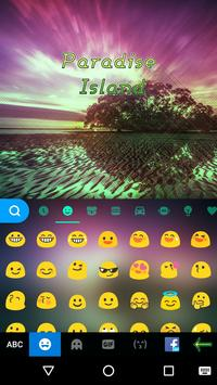 Paradise Island Kika Keyboard screenshot 2