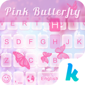 Pink Butterfly Keyboard Theme icon