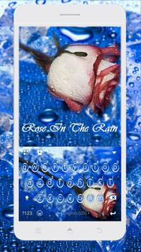 Rose in the Rain Kika Theme screenshot 1