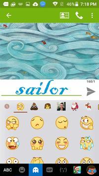 Sailor Kika Free Emoji Theme apk screenshot