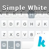 Simple White Keyboard Theme icon