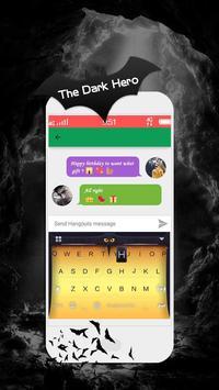 The Dark Hero Kika Keyboard poster
