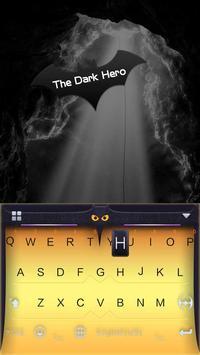 The Dark Hero Kika Keyboard screenshot 1