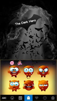 The Dark Hero Kika Keyboard screenshot 3