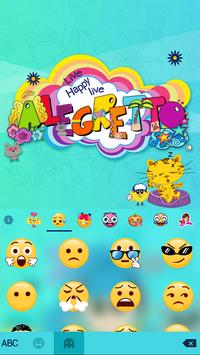 Alegretto Bichitta Keyboard Theme apk screenshot