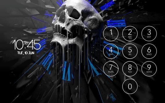Blue Flaming Skull Wallpaper Theme Lock Screen HD Screenshot 8