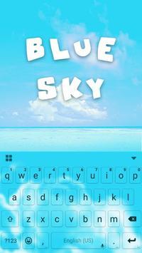 Blue Sky Kika Keyboard Theme poster