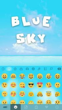 Blue Sky Kika Keyboard Theme screenshot 1