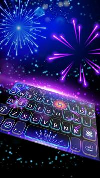 2018 Lucky New Year Firework Keyboard poster