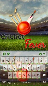 Cricket Fever Keyboard Theme poster