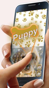 Cuteness Puppy Keyboard Theme poster