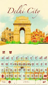 Delhi City Keyboard Theme poster