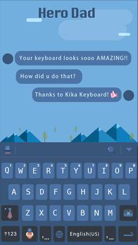 Hero Dad for kika keyboard poster