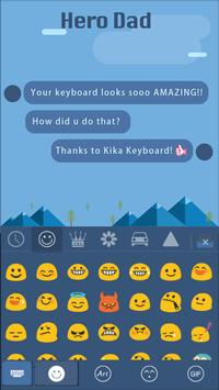 Hero Dad for kika keyboard apk screenshot