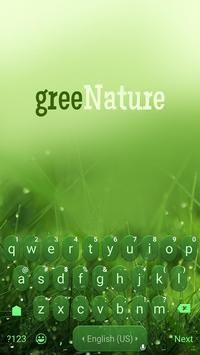 Green Nature Panda Keyboard Theme poster