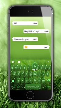 Green Nature Panda Keyboard Theme screenshot 1