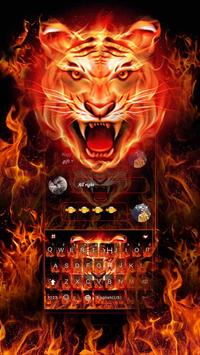 Cruel Tiger 3D Keyboard Theme poster