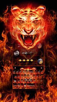Cruel Tiger 3D Keyboard Theme poster