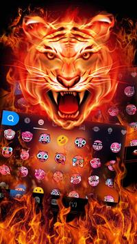Cruel Tiger 3D Keyboard Theme apk screenshot