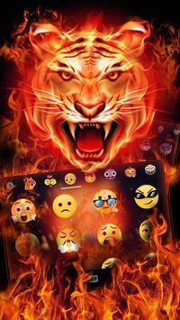 Cruel Tiger 3D Keyboard Theme apk screenshot
