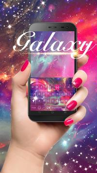 Dreamer Galaxy Emoji Keyboard Theme poster