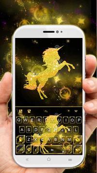 Gold Luxury Unicorn poster