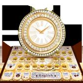 Diamond Clock Lux Keyboard Theme icon
