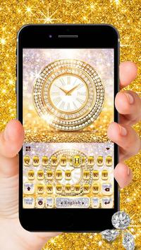 Diamond Clock Lux Keyboard Theme poster