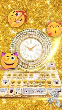 Diamond Clock Lux Keyboard Theme screenshot 3