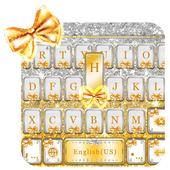 Golden Bow Keyboard Theme icon
