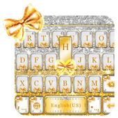 Gold Bow Keyboard theme icon
