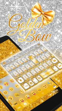 Gold Bow Keyboard theme poster