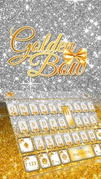 Gold Bow Keyboard theme apk screenshot