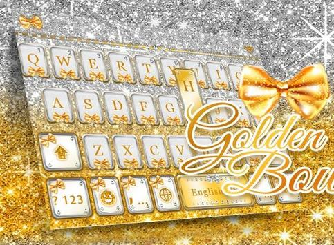 Golden Bow Keyboard Theme apk screenshot