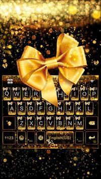 Luxury Bowknot Keyboard Theme poster