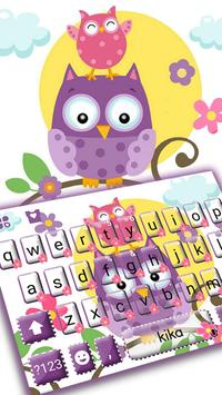 Happy Cute Owls poster
