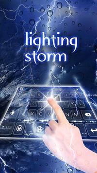Lighting Storm Keyboard Theme poster