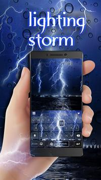 Lighting Storm Keyboard Theme apk screenshot